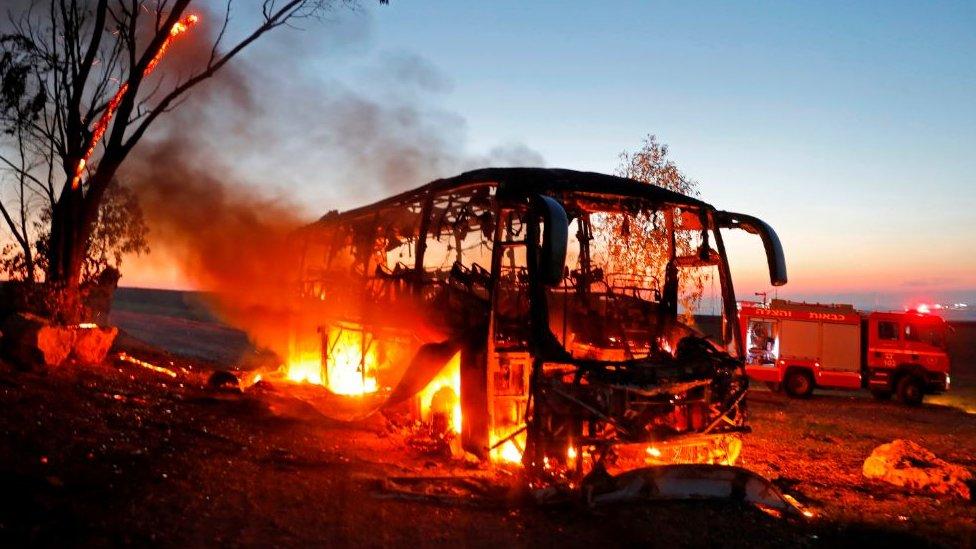 Autobus u plamenu, Izrael