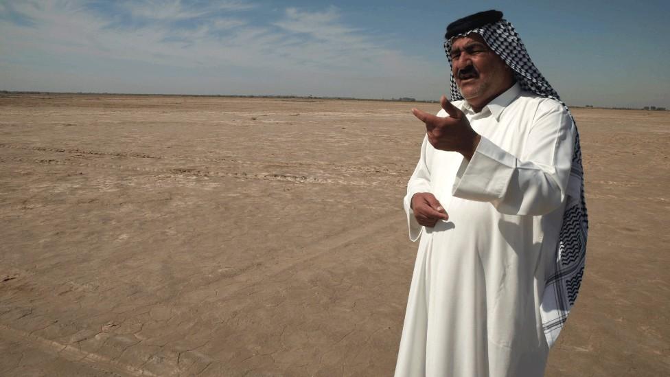 Sheikh Kazem Al Kaabi, en su aldea en el centro de Irak.