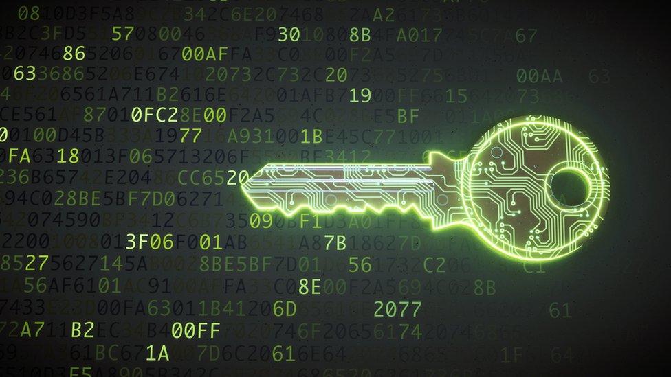 Una llave digital