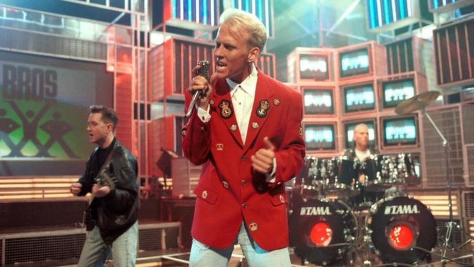 Bros, performing on Top of the Pops in 1988