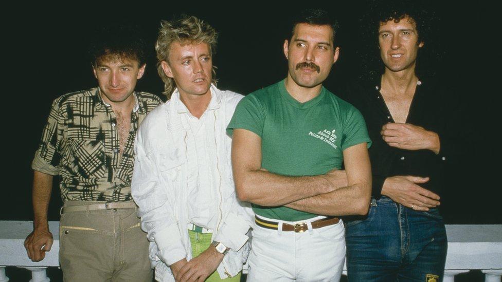 Queen en Brasil en 1985.