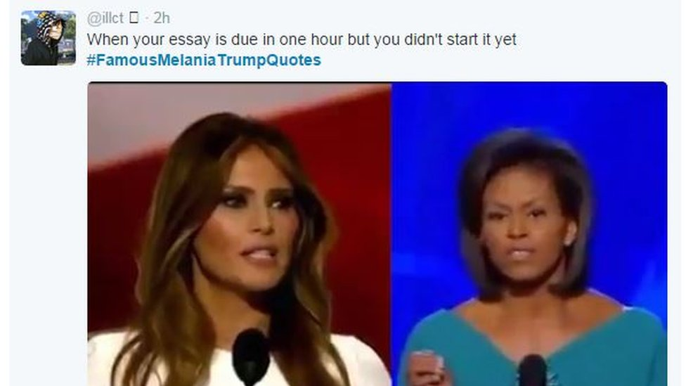 Melania and Michelle