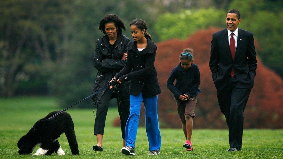 Obama sa psom