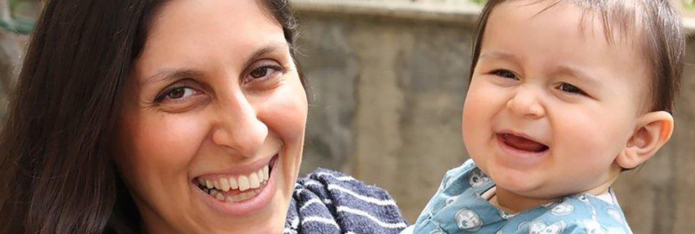 Nazanin Zaghari-Ratcliffe with her daughter Gabriella