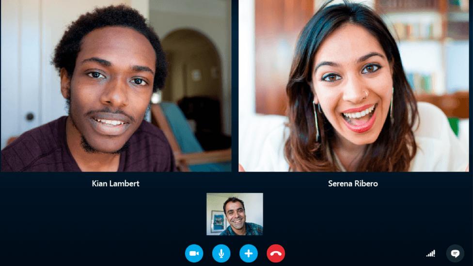 llamada grupal Skype