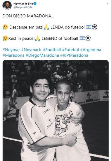 Maradona con Neymar.