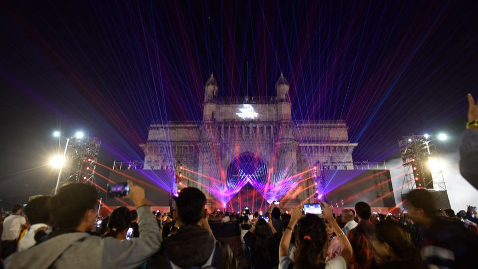Celebración en Bombay.