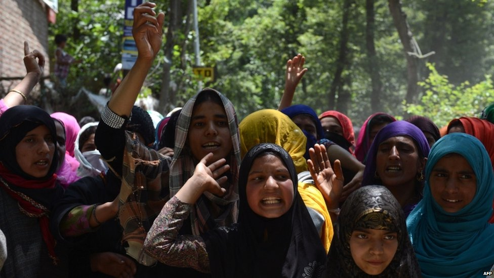 A funeral in Indian-administered Kashmir