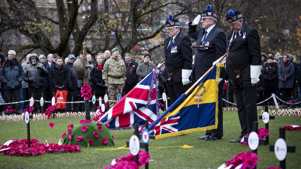 Armistice Day at Edinburgh Garden of Remembrance