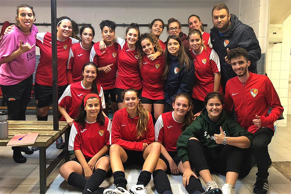 Jugadoras del equipo femenino B del Terrassa.