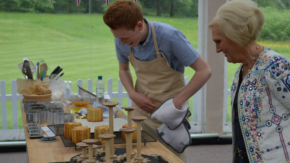 Andrew with Mary Berry