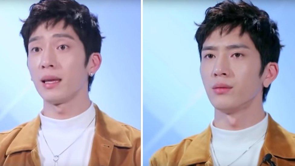 Dos fotos de Jing Boran en I Actor