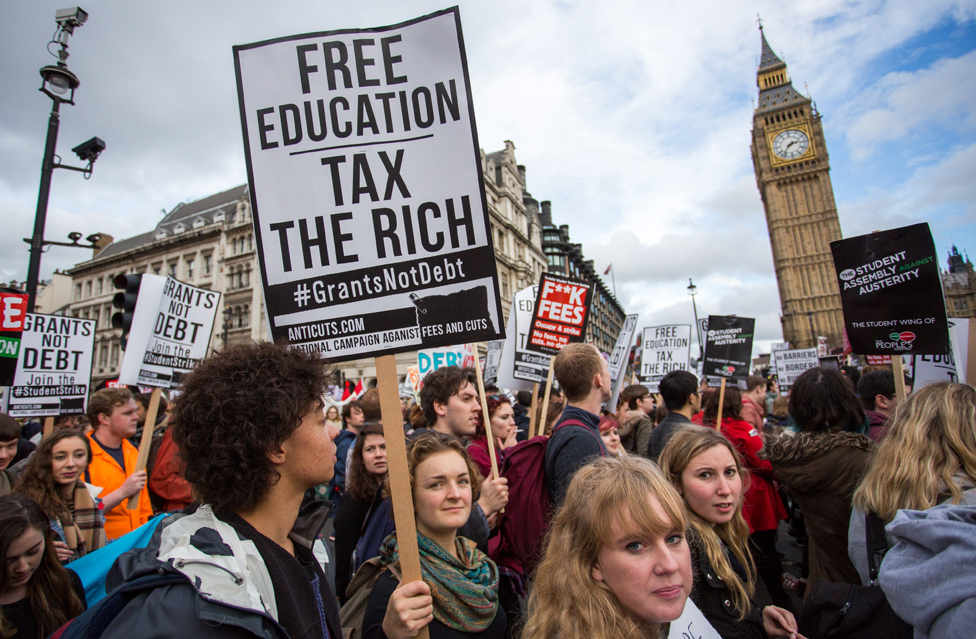 Tuition fees protest, London 2015