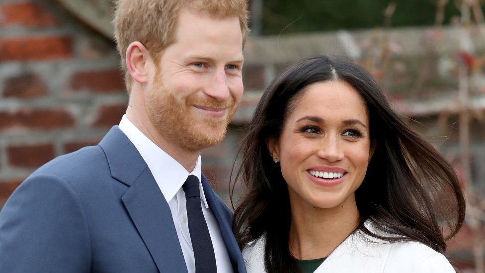 Harry y Meghan el día que anunciaro su compromiso