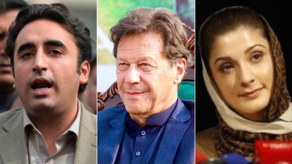 مریم نواز، عمران خان، بلاول بھٹو