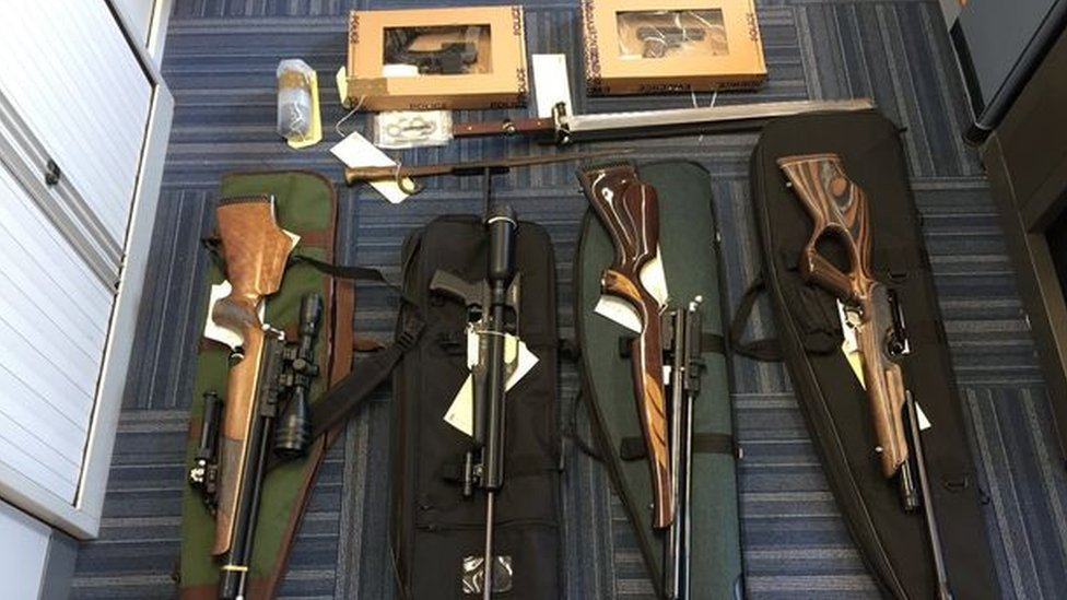 Man faces jail after police raid finds several guns