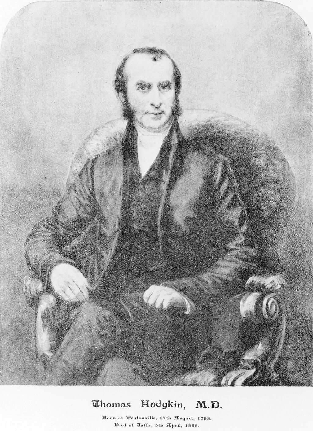 Retrato de Thomas Hodgkin.