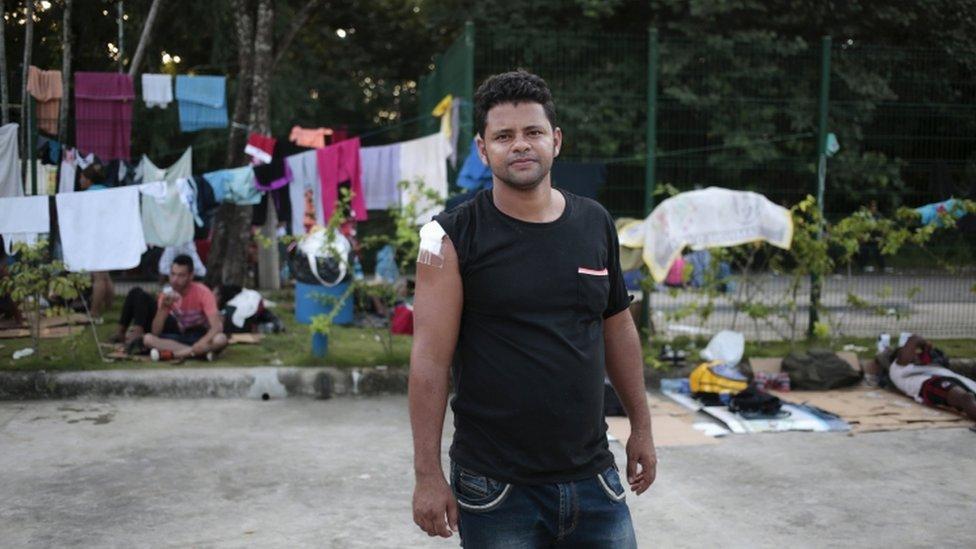 Cuban migrant Lenin Rivacoba, 19 Nov 2015