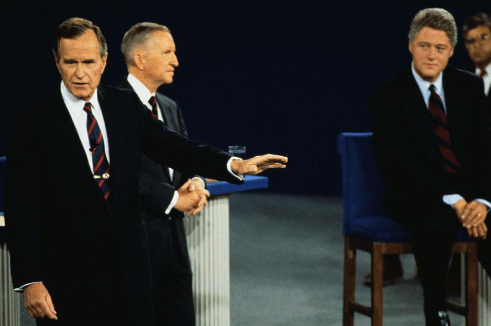 Buš u debati sa Perotom i Klintonom