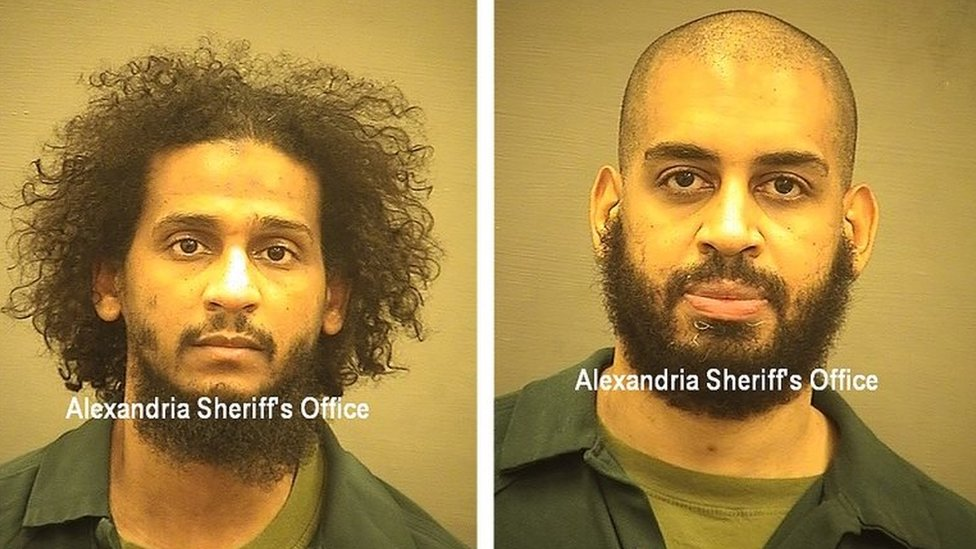 El Shafee Elsheikh (l) and Alexanda Kotey (r) (picture from Alexandria Sheriff's Office)
