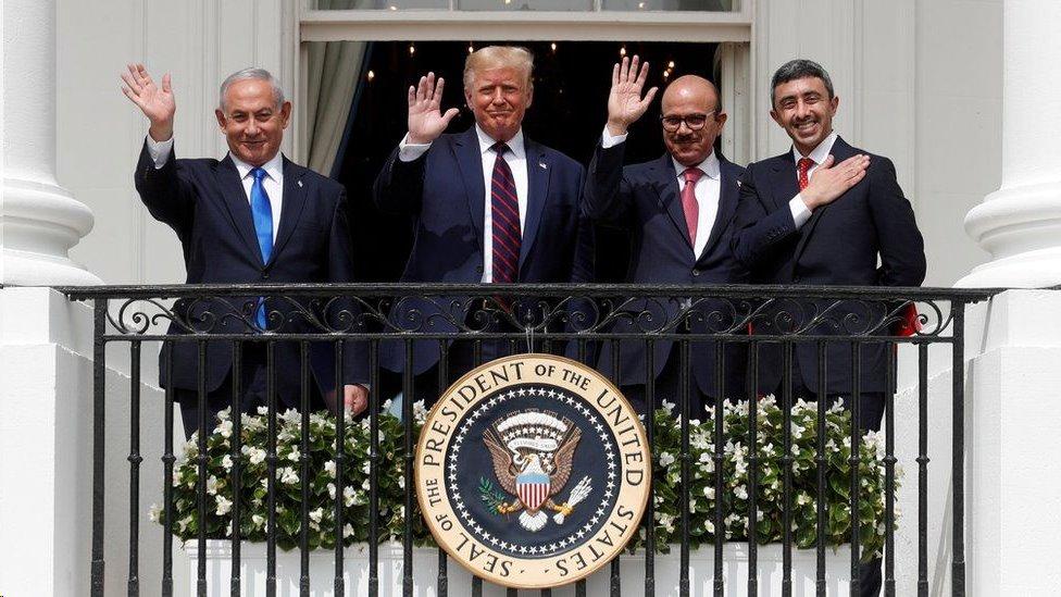 توسطت إدارة ترامب في اتفاقات سلام بين إسرائيل وعدة دول عربية