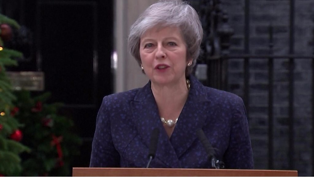 'I stand ready to finish the job' - Theresa May
