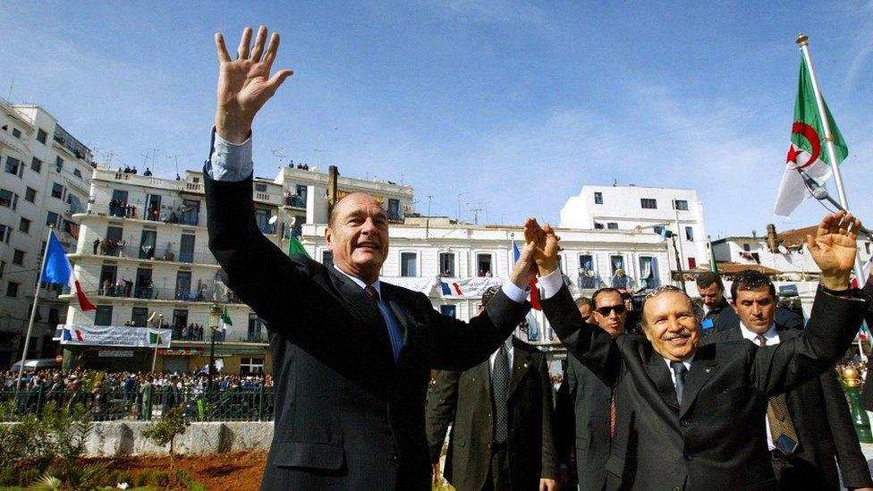 NO USAR / BBC El presidente de Francia Jacques Chirac durante una visita a Argelia en 2003