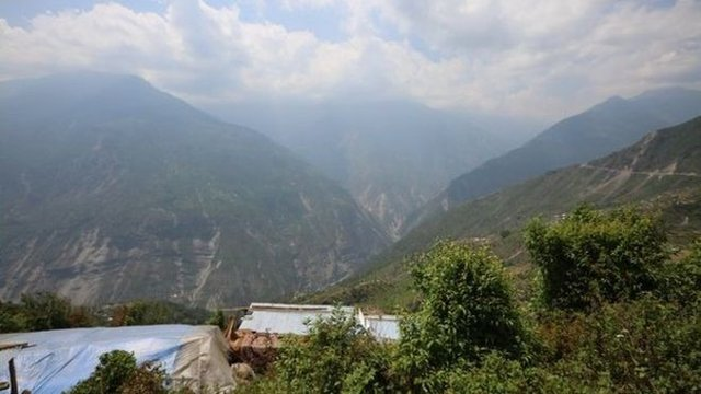 Nepal's mountains are scarred by landslides which have driven away farmers and tourists