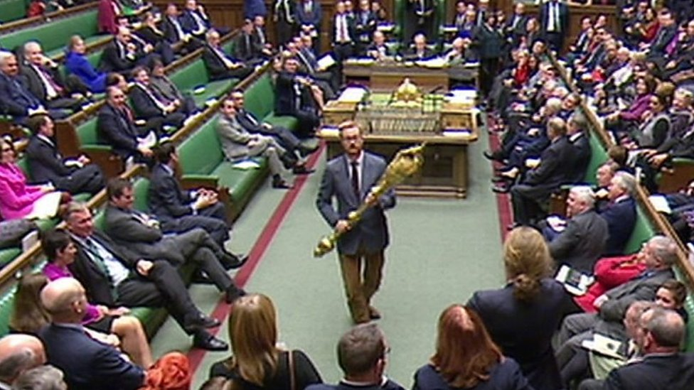 Commons stir: Labour MP Lloyd Russell-Moyle picks up mace