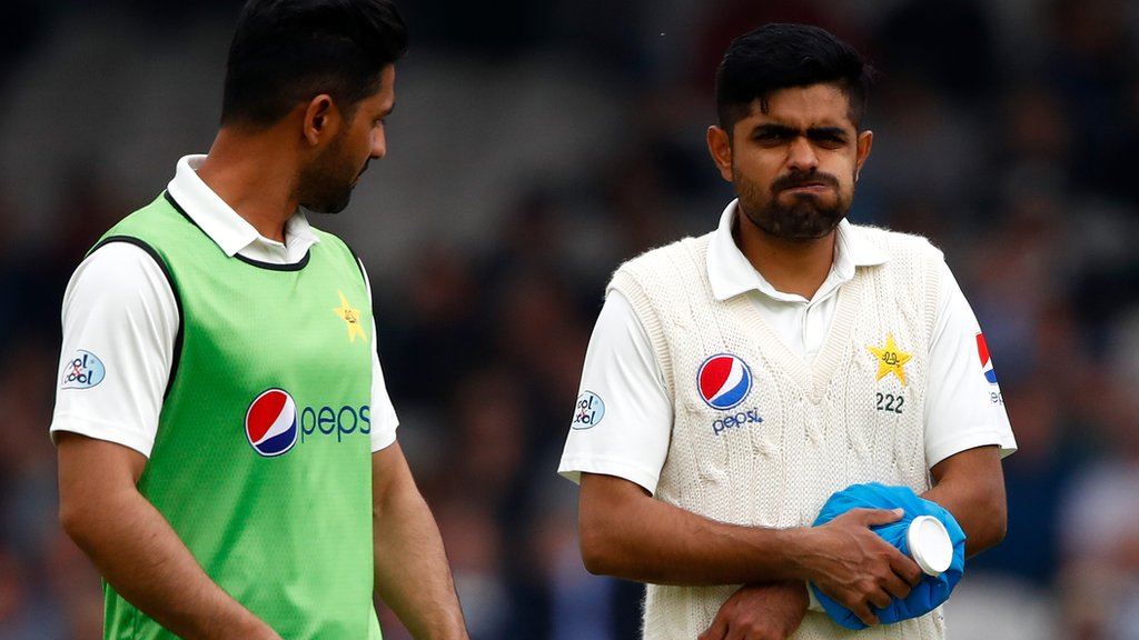 Pakistan's Babar to miss rest of series with broken wrist