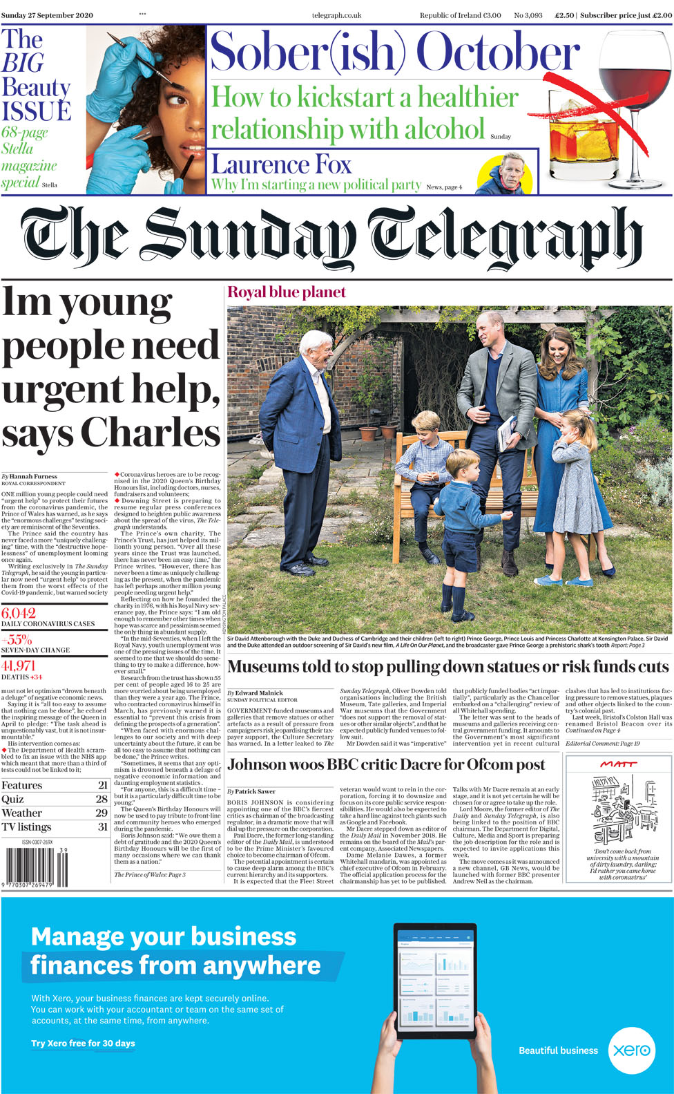 The Papers: Johnson 'faces Covid revolt', and Charles' warning thumbnail