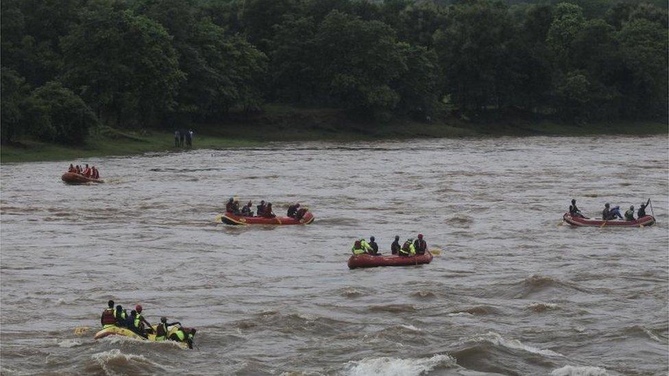Dinghies in the River Savitri