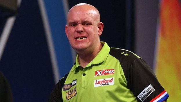 Michael van Gerwen 'angry' after being showered with beer by fan