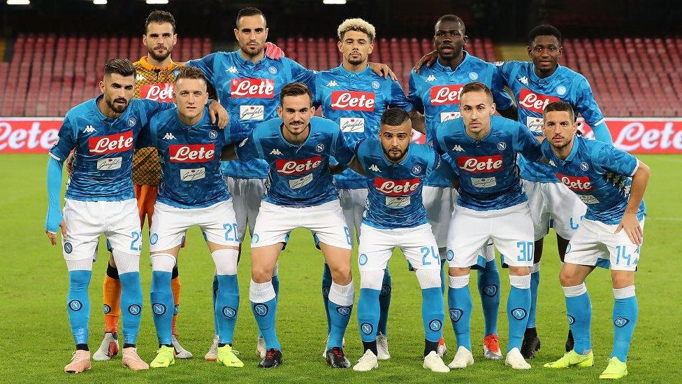 Jugadores del Napoli