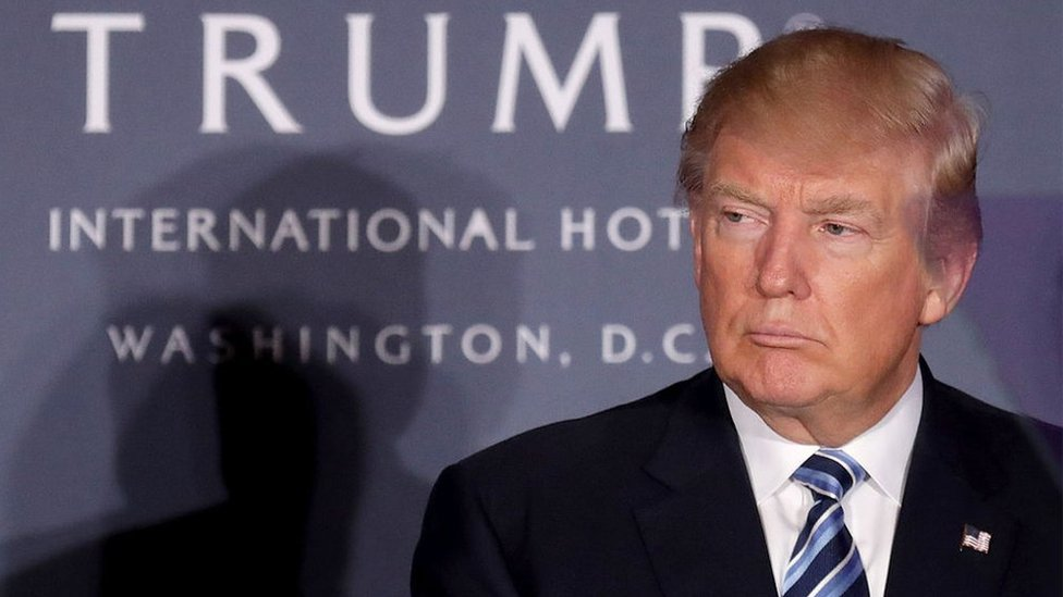 دونالد ترامب في فندقه في واشنطن العاصمة