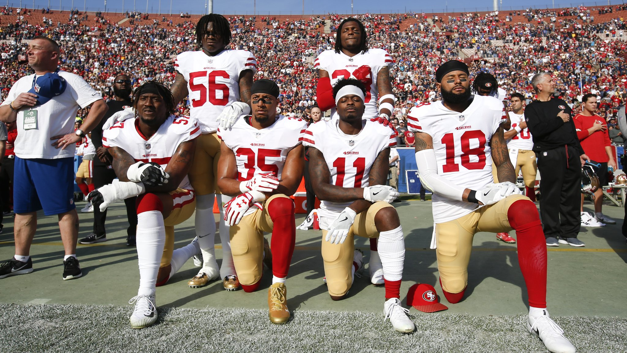 Trump calls for season-long NFL bans for kneeling
