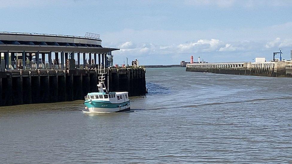 Laurent Merlin's boat returns to port