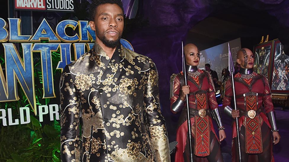 Chadwick Boseman at Black Panther premiere
