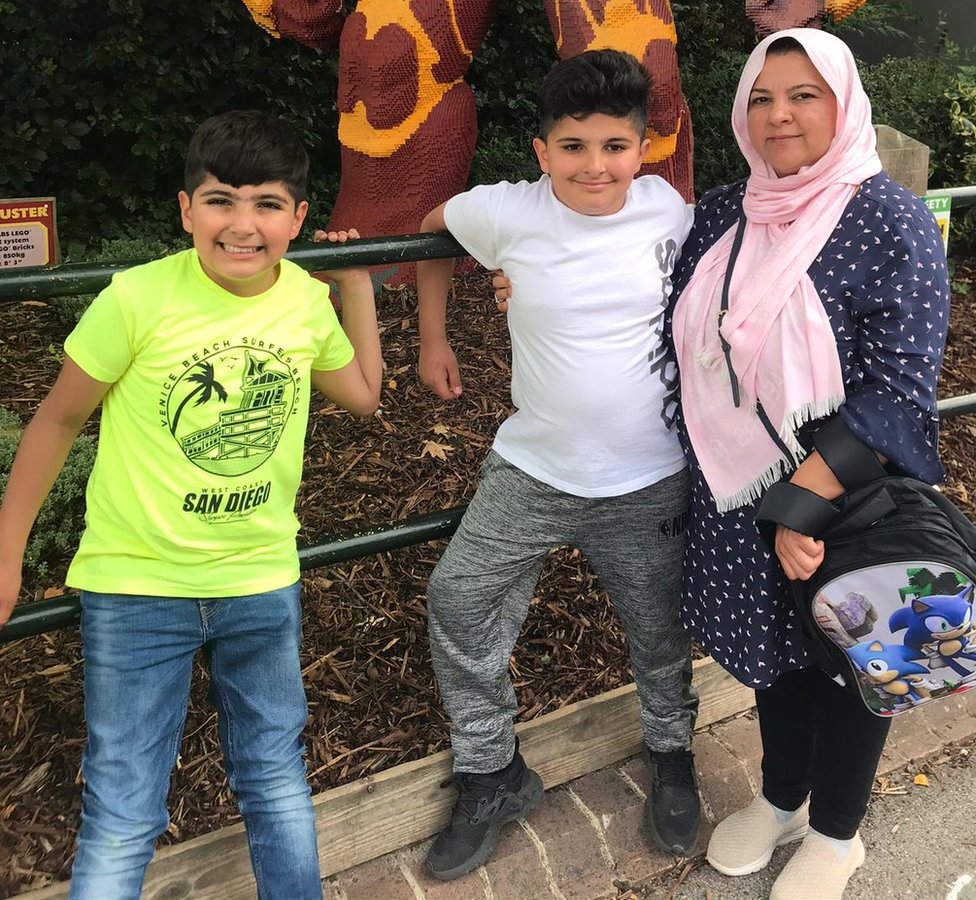 Salma with her two eldest