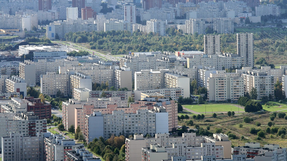 Tallinn suburb of Lasnamae, Estonia