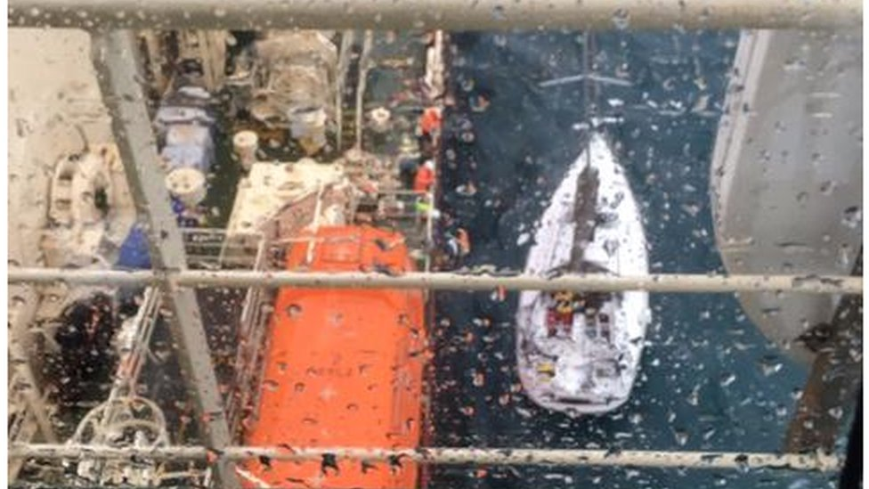 Russian yachtsman rescued
