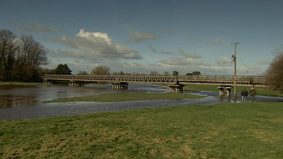 Bridge over the Severn in Melverly