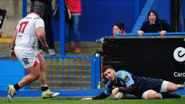 Aled Summerhill's late try rounded off Cardiff's 23-13 Pro12 victory over Ulster