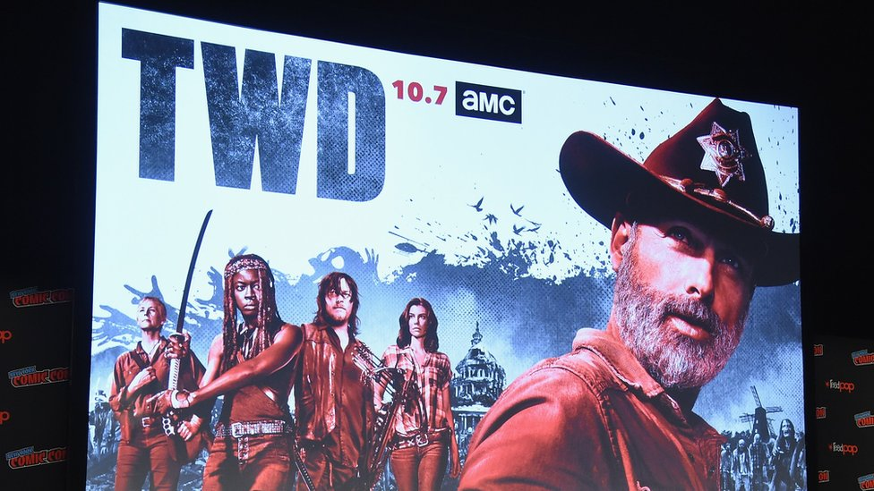 A poster showing cast members of The Walking Dead