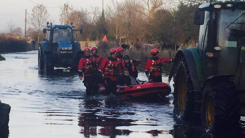 The Northern Ireland Fire and Rescue Service was involved in helping to bring 26 people to safety at the weekend