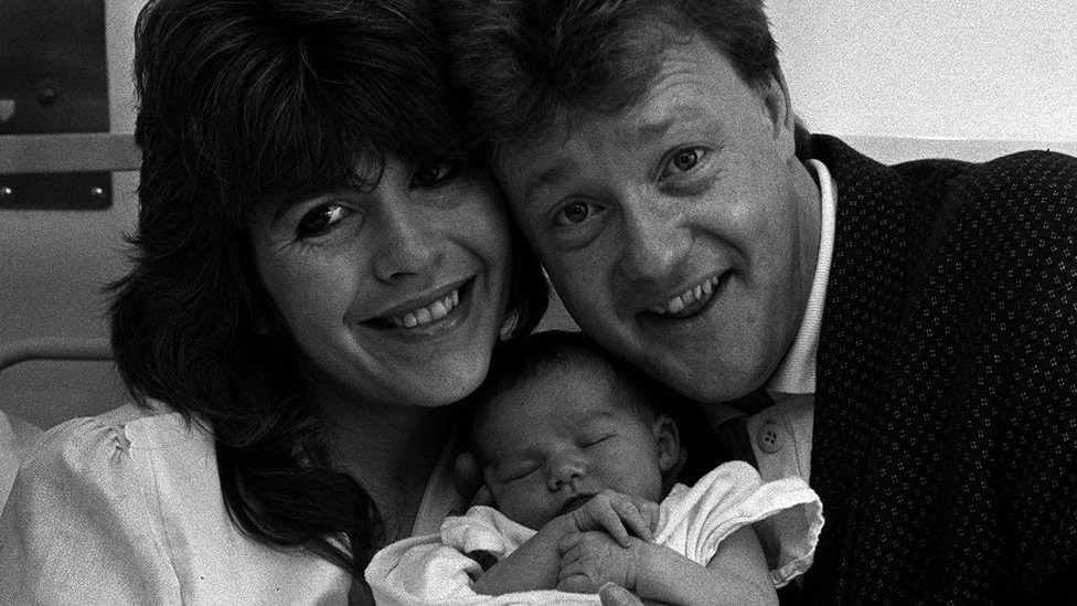 Maggie Philbin and Keith Chegwin with their daughter