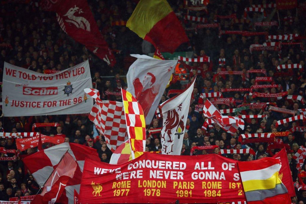 Aficionados en Anfield