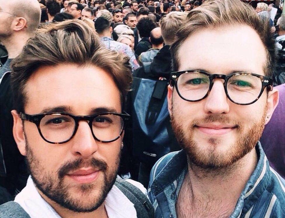 Thomas Rees (left) and his partner Joshua Bardwell