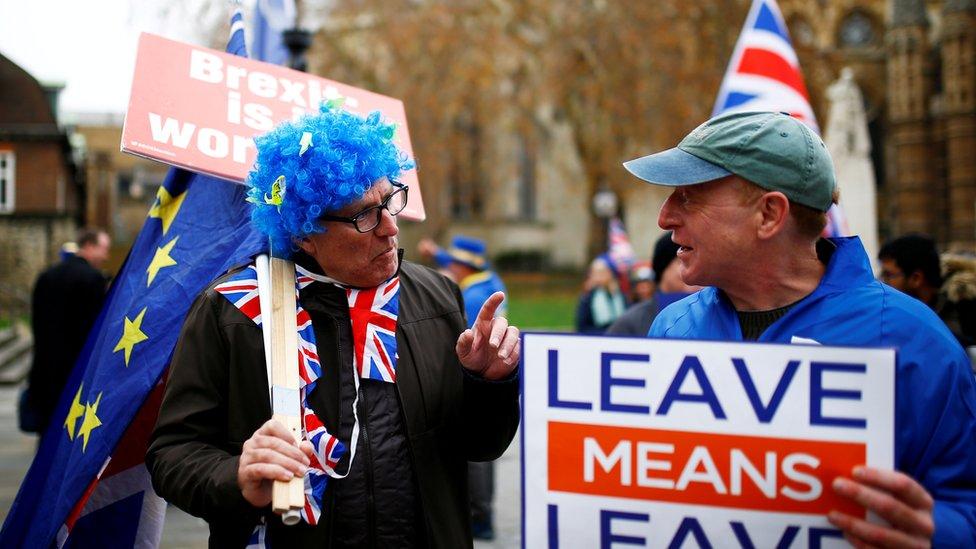 Partidarios y opositores del Brexit