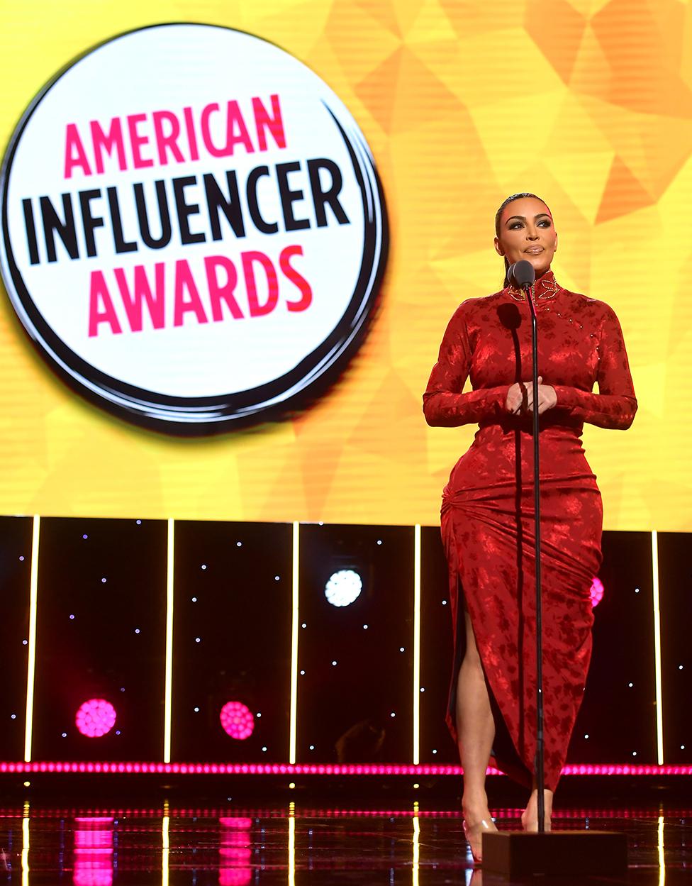 Kim Kardashian en los premios American Influencer